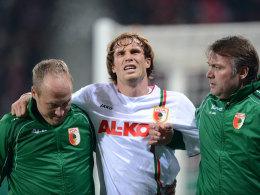 Andreas Ottl musste gegen die Bayern verletzt ausgewechselt werden