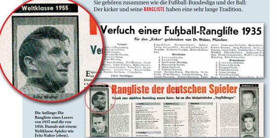 Die ersten Versuche einer Fußball-Rangliste: Der kicker startete damit 1956.