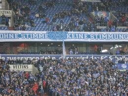 Protest auf Schalke
