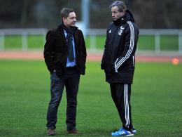 Horst Heldt, Jens Keller (re.)