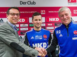 Martin Bader, Michael Wiesinger und Armin Reutershahn