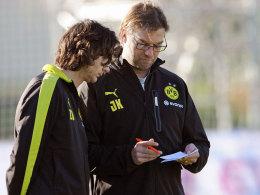 Ihr Konzept ging weitgehend auf: BVB-Trainer Jürgen Klopp mit Co-Trainer Zeljko Buvac.