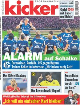 Aktuelle Ausgabe des kicker sportmagazin vom 10.01.2012