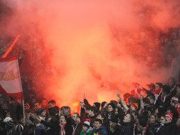 Bayern-Anhänger beim Auswärtsspiel in Nürnberg