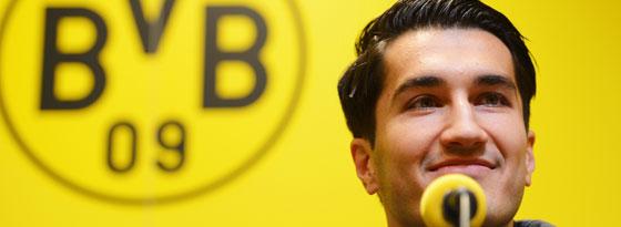 Nuri Sahin verabschiedete sich im Mai 2011 auf einer PK und wurde am 11. Januar 2013 wieder beim BVB vorgestellt.