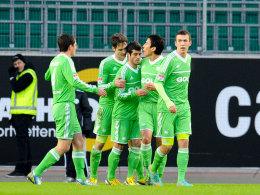 Generalprobe geglückt: Der VfL Wolfsburg und Ivan Perisic (re.) waren gegen Hertha BSC erfolgreich.