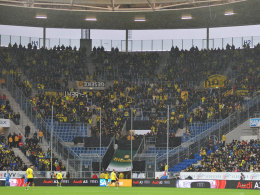 BVB-Fans beim Auswärtsspiel in Sinsheim.