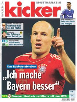 Aktuelle Ausgabe des kicker sportmagazin vom 21.01.2013