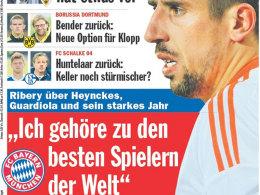 Ribery: Selbstbewusste Ansagen des Bayern-Stars