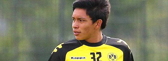 Cristian Leonel Ramirez 2011 im Probetraining beim BVB