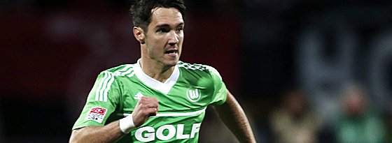 Auf dem Weg nach Frankfurt: Wolfsburgs Stürmer Srdjan Lakic.