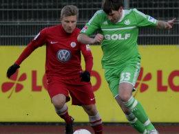 Wieder im Einsatz: Patrick Helmes im Testspiel gegen Hessen Kassel.