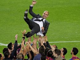 Im Sommer 2012 wurde Pep Guardiola vom FC Barcelona verabschiedet - ein Jahr später kommt es in München zum Wiedersehen.