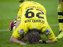 Eines der Dortmunder Sorgenkinder: Marcel Schmelzer musste das Training abbrechen.