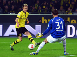 Saisontore 9 bis 11: Marco Reus war gegen die Eintracht um Keeper Kevin Trapp der Mann des Abends.