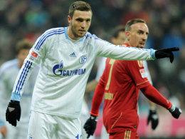 Der Schalker Marco Höger konnte am Mittwoch nicht trainieren - Einsatzt in Mainz gefährdet.