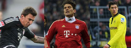 Mario Mandzukic, Mario Gomez oder Robert Lewandowski: Welcher Stürmertyp passt am besten?