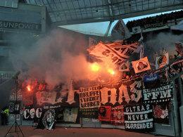 Eintracht-Fans in Leverkusen