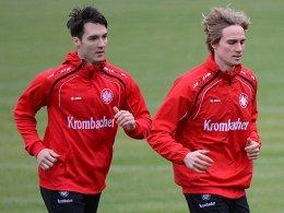 Trainiert seit Januar wieder mit der Mannschaft: Martin Amedick (li. Lakic).