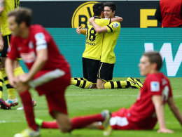 Dortmunder Doppeltorschützen: Robert Lewandowski und Nuri Sahin.