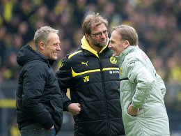 Christian Streich, Jürgen Klopp und Hans-Joachim Watzke (v.li.)