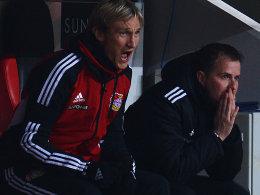 Sami Hyypiä und Sascha Lewandowski