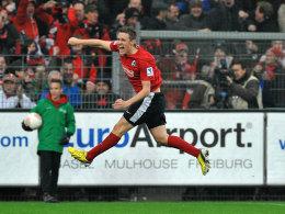 Max Kruse jubelt gegen Gladbach