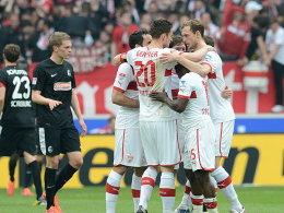 Auch in der Liga ging der VfB gegen Freiburg als Sieger vom Platz.