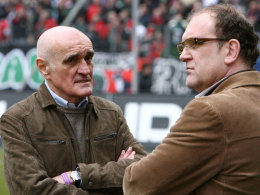 Keine gemeinsame Zukunft: 96-Klubchef Martin Kind und Jörg Schmadtke (r.).
