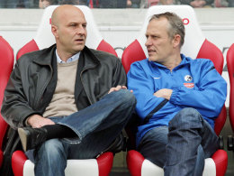 Keine Zusammenarbeit mehr: Freiburgs Sportdirektor Dirk Dufner (li.) und Trainer Christian Streich.