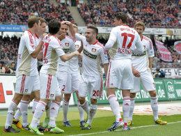 Leverkusen ist auf Kurs: Das 2:0-Führung bedeutet Platz drei.