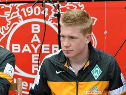 Kevin de Bruyne in Leverkusen