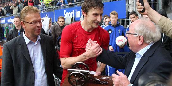 Stefan Kießling und Uwe Seeler