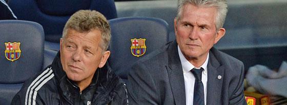 Peter Hermann (li.), hier neben seinem Chef Jupp Heynckes, wechselt zum FC Schalke.