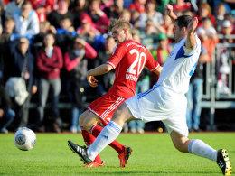 Bayern-Youngster Patrick Weihrauch traf in regen doppelt.
