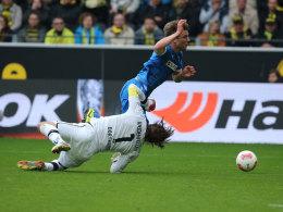 Roman Weidenfeller (Borussia Dortmund) gegen Sven Schipplock (Hoffenheim)