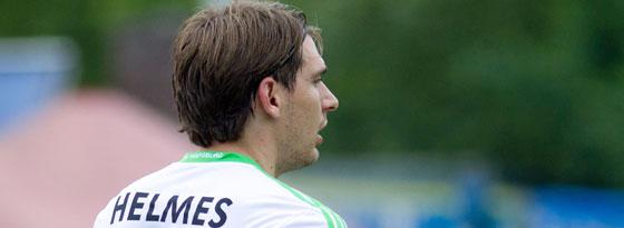 Hat wieder Knieprobleme und musste das Trainingslager verlassen: Wolfsburgs Stürmer Patrick Helmes.
