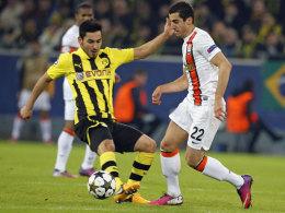 Mann mit feiner Technik: Henrikh Mkhitaryan spielt künftig für den BVB, zusammen mit Ilkay Gündogan.