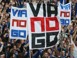 Die Schalker Fans hatten von Anfang an eine eindeutige Meinung zu dem Deal mit viagogo.