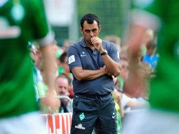 Sah noch einiges an Verbesserungsmöglichkeiten: Bremens Trainer Robin Dutt.