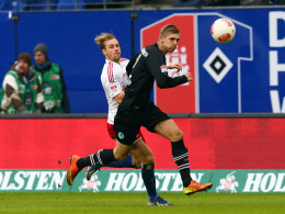 Lasse Sobiech (vorn) gegen Maxi Beister