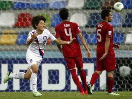 Ball im Netz und abdrehen zum Jubel: Südkoreas Ryu Seungwoo geht ab sofort für Borussia Dortmund auf Torejagd.