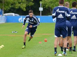 Julian Draxler am Donnerstag im Schalke-Training