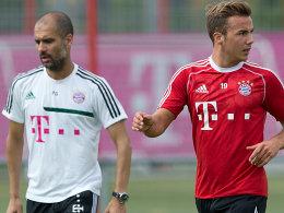 Pep Guardiola und Mario Götze