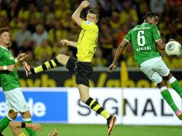 Entscheidend entwischt: Lewandowski machte für den BVB gegen Bremen den Führungstreffer.