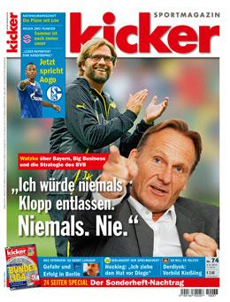Aktuelle Ausgabe des kicker sportmagazin vom 09.09.2013