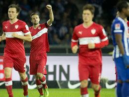 Mann des Tages: Kapitän Christian Gentner sicherte dem VfB den Auswärtssieg.
