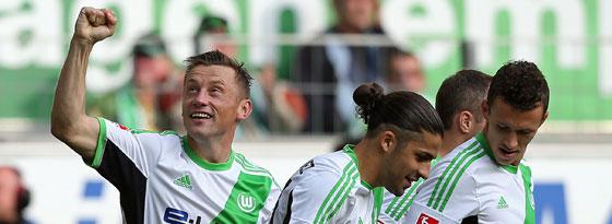 Matchwinner II: Olic dreht den spie´für Wolfsburg um.