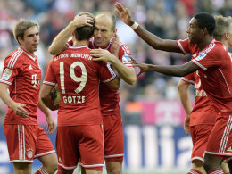 Top-Vorbereiter: Bayerns Götze (Nr. 19) legte die ersten drei Treffer der Münchner auf.