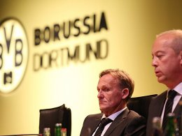BVB-Geschäftsführer Joachim Watzke und Finanzchef Thomas Tress